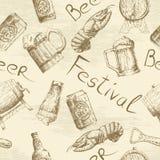 Σχέδιο μπύρας σκίτσων Στοκ φωτογραφίες με δικαίωμα ελεύθερης χρήσης