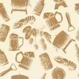 Σχέδιο μπύρας σκίτσων Στοκ φωτογραφία με δικαίωμα ελεύθερης χρήσης