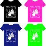 Σχέδιο μπλουζών για τα Χριστούγεννα διανυσματική απεικόνιση