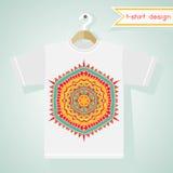 Σχέδιο μπλουζών με το φωτεινό φυλετικό σχέδιο Στοκ φωτογραφίες με δικαίωμα ελεύθερης χρήσης