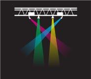 Σχέδιο μπλουζών - φω'τα συναυλίας στοκ φωτογραφία με δικαίωμα ελεύθερης χρήσης