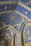 Σχέδιο μωσαϊκών του μουσουλμανικού τεμένους ιμαμών στο Ισπαχάν Στοκ Εικόνες