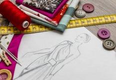 Σχέδιο μόδας Στοκ Εικόνα
