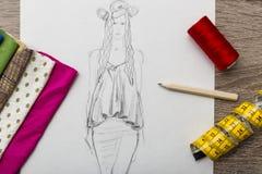 Σχέδιο μόδας Στοκ εικόνες με δικαίωμα ελεύθερης χρήσης