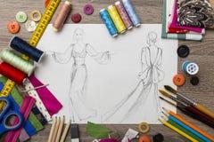 Σχέδιο μόδας Στοκ εικόνα με δικαίωμα ελεύθερης χρήσης