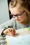 Σχέδιο νέων κοριτσιών Στοκ εικόνα με δικαίωμα ελεύθερης χρήσης