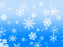Σχέδιο νιφάδων χιονιού Στοκ Φωτογραφίες