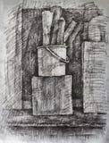 Σχέδιο ξυλάνθρακα Στοκ φωτογραφία με δικαίωμα ελεύθερης χρήσης