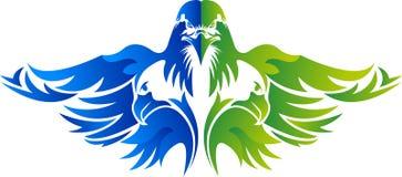 Σχέδιο λογότυπων αετών διανυσματική απεικόνιση
