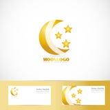 Σχέδιο λογότυπων αστεριών φεγγαριών απεικόνιση αποθεμάτων