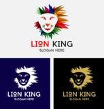 Σχέδιο λογότυπων βασιλιάδων λιονταριών Στοκ εικόνα με δικαίωμα ελεύθερης χρήσης