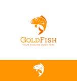 Σχέδιο λογότυπων ενός άλματος goldfish Στοκ φωτογραφία με δικαίωμα ελεύθερης χρήσης