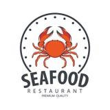 Σχέδιο λογότυπων θαλασσινών Στοκ Εικόνα