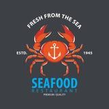 Σχέδιο λογότυπων θαλασσινών Στοκ Φωτογραφίες