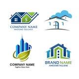 Σχέδιο λογότυπων ιδιοκτησίας ακίνητων περιουσιών Στοκ Εικόνες