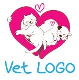 Σχέδιο λογότυπων κτηνιάτρων Στοκ Εικόνες