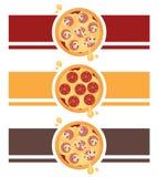 Σχέδιο λογότυπων πιτσών στοκ εικόνα