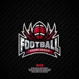 Σχέδιο λογότυπων πρωταθλήματος ποδοσφαίρου Στοκ Εικόνες