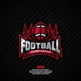 Σχέδιο λογότυπων πρωταθλήματος ποδοσφαίρου Στοκ φωτογραφία με δικαίωμα ελεύθερης χρήσης
