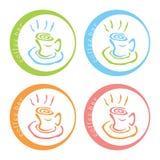 Σχέδιο λογότυπων φραγμών καφέ Στοκ Φωτογραφίες