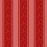 Σχέδιο λουρίδων με την άνευ ραφής ταπετσαρία υποβάθρου καρδιών Στοκ φωτογραφίες με δικαίωμα ελεύθερης χρήσης