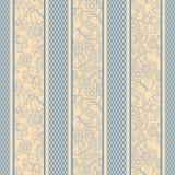 Σχέδιο λουρίδων με τη floral ταπετσαρία υποβάθρου στοιχείων άνευ ραφής Στοκ φωτογραφίες με δικαίωμα ελεύθερης χρήσης