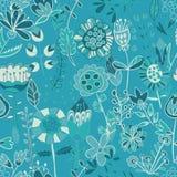 Σχέδιο λουλουδιών, άνευ ραφής σύσταση Στοκ Εικόνες
