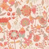Σχέδιο λουλουδιών, άνευ ραφής σύσταση Στοκ Φωτογραφίες