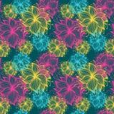 Σχέδιο λουλουδιών κτυπήματος Στοκ Εικόνες