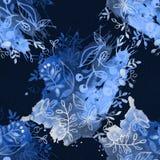 Σχέδιο λουλουδιών με τις τροπικές εγκαταστάσεις Ένα watercolor για το λουλούδι des Στοκ Εικόνα