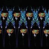 Σχέδιο λουλουδιών με τις τροπικές εγκαταστάσεις Ένα watercolor για το λουλούδι des Στοκ Εικόνες