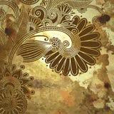 Σχέδιο λουλουδιών στο υπόβαθρο grunge Στοκ Εικόνες