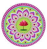 Σχέδιο λουλουδιών Lotus Στοκ εικόνα με δικαίωμα ελεύθερης χρήσης