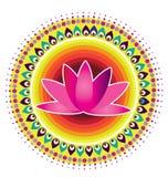 Σχέδιο λουλουδιών Lotus Στοκ Φωτογραφίες
