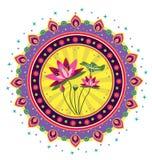 Σχέδιο λουλουδιών Lotus Στοκ φωτογραφία με δικαίωμα ελεύθερης χρήσης