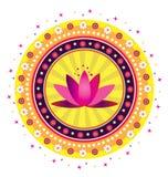 Σχέδιο λουλουδιών Lotus Στοκ Εικόνες