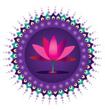 Σχέδιο λουλουδιών Lotus Στοκ Εικόνα