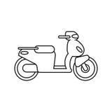 σχέδιο οχημάτων μοτοσικλετών διανυσματική απεικόνιση