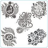 Σχέδιο Πάσχας - διανυσματικά floral σύμβολα συνόλου Στοκ εικόνα με δικαίωμα ελεύθερης χρήσης