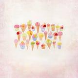 Σχέδιο παγωτού doodle Στοκ φωτογραφία με δικαίωμα ελεύθερης χρήσης