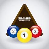 Σχέδιο παιχνιδιού μπιλιάρδου ελεύθερη απεικόνιση δικαιώματος