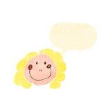 σχέδιο παιδιού ενός ευτυχούς κοριτσιού με τη λεκτική φυσαλίδα απεικόνιση αποθεμάτων