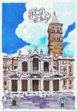 Σχέδιο Παναγίας βασιλικών papale maggiore ελεύθερη απεικόνιση δικαιώματος
