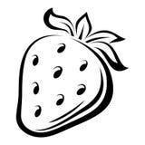 Σχέδιο περιγράμματος της φράουλας. ελεύθερη απεικόνιση δικαιώματος