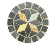 Σχέδιο πετρών μωσαϊκών κύκλων στο άσπρο υπόβαθρο Στοκ εικόνες με δικαίωμα ελεύθερης χρήσης
