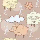 Σχέδιο - πετώντας πρόβατα Στοκ Εικόνες