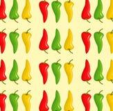 Σχέδιο πιπεριών τσίλι Στοκ εικόνα με δικαίωμα ελεύθερης χρήσης