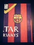 Σχέδιο πουκάμισων της Βαρκελώνης Fc στοκ φωτογραφία με δικαίωμα ελεύθερης χρήσης