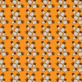 Σχέδιο που αποτελείται άνευ ραφής από τον ανανά Στοκ Εικόνα
