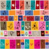 Σχέδιο πουλιών κινούμενων σχεδίων κολάζ doodle Στοκ φωτογραφία με δικαίωμα ελεύθερης χρήσης